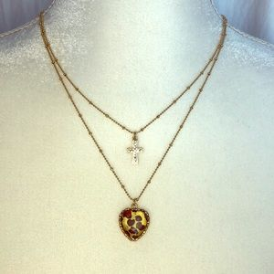 Betsey Johnson Gold-plated Double Strand Necklace